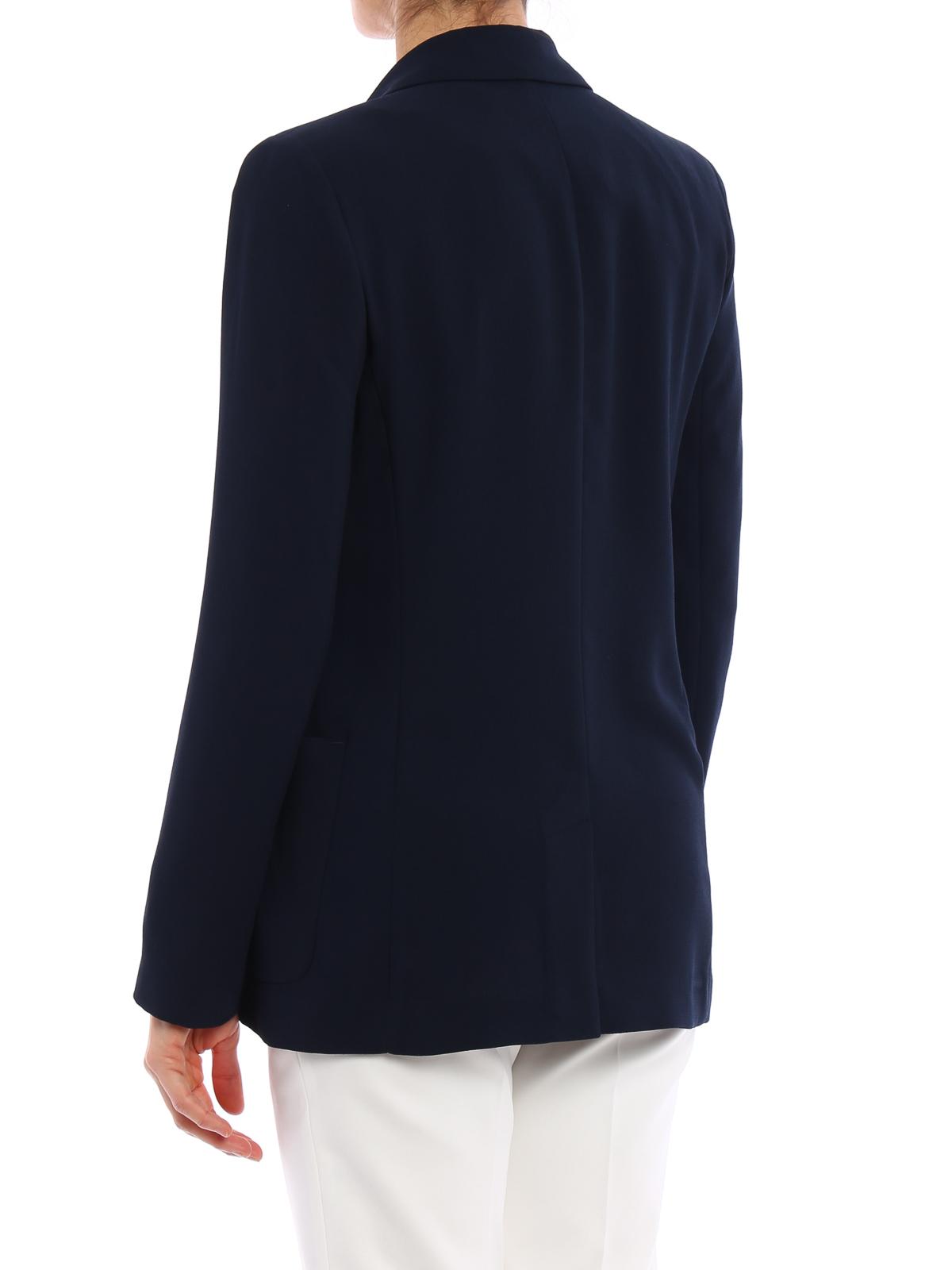 sports shoes f85ca bc77f Armani Jeans - Blazer Bleu Foncé - Vestes de costume ...