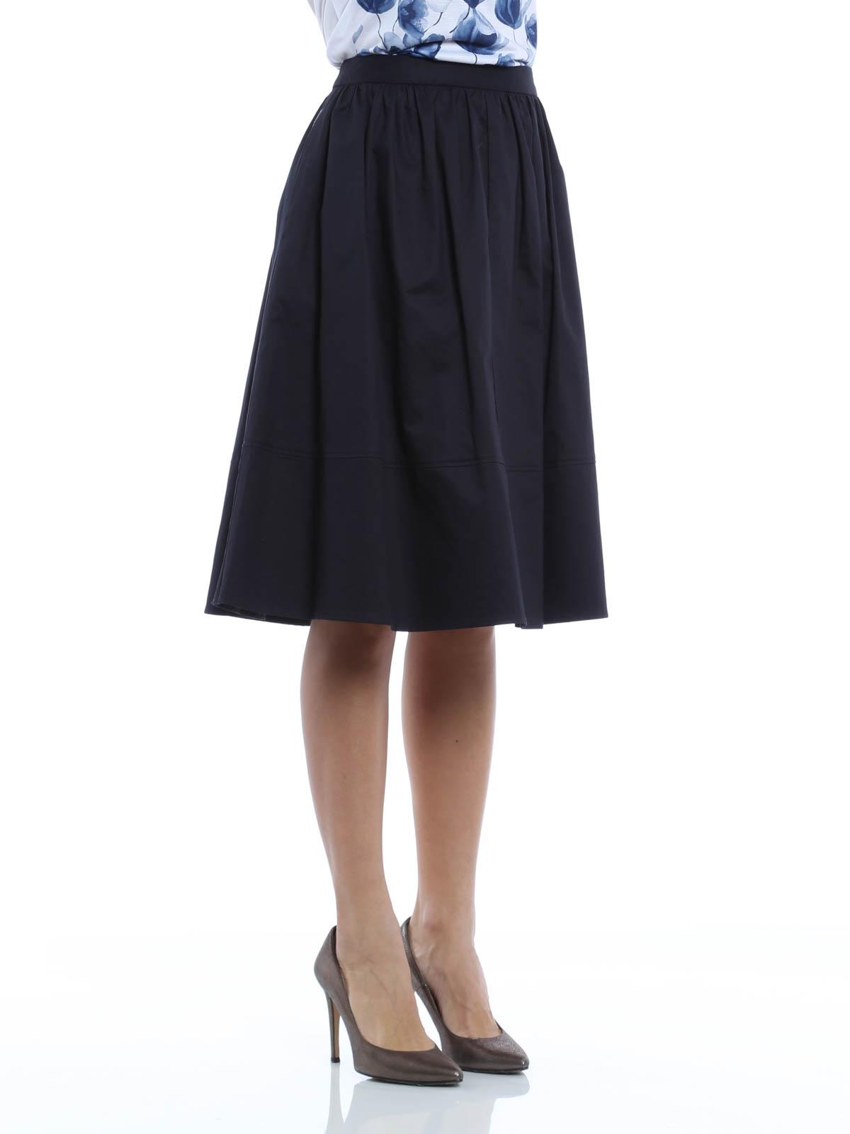 twill satin skirt by armani knee length skirts