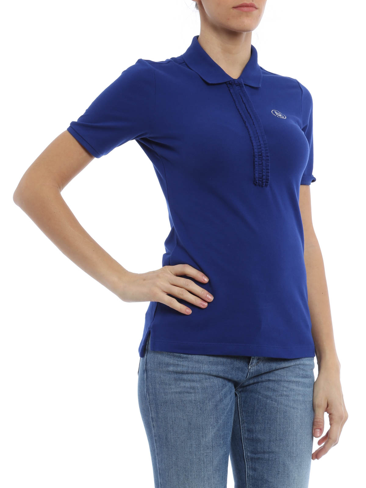 Pleat detailed polo shirt by armani jeans polo shirts for Polo shirt and jeans