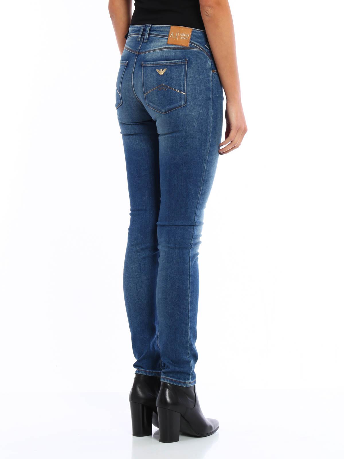 8ca7eb3dc091 Armani Jeans - Faded denim jeans - skinny jeans - 6X5J28 5D0JZ 1500