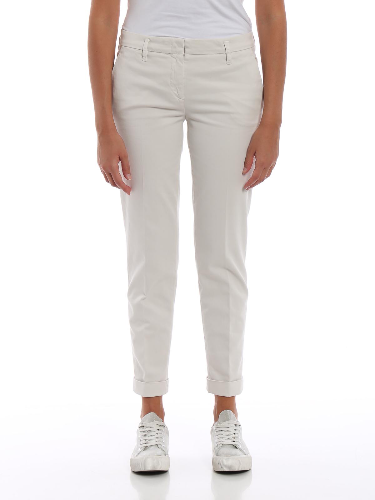 iKRIX ASPESI  pantaloni casual - Pantaloni a sigaretta in drill di cotone 0317d9d8eb5