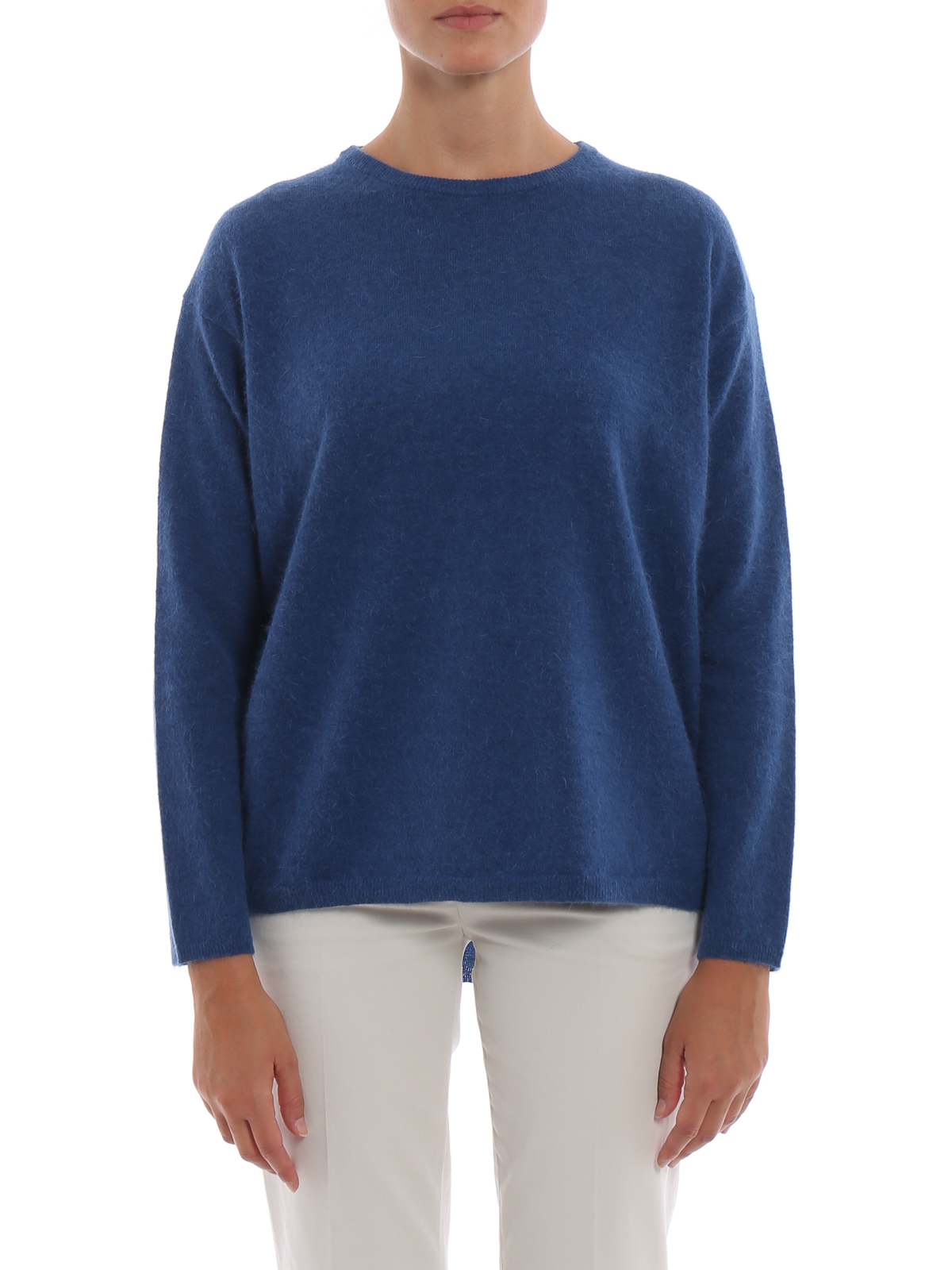 And Airforce Blue Necks Wool Crew Sweater Aspesi Angora Ikrix tnYqPwaP
