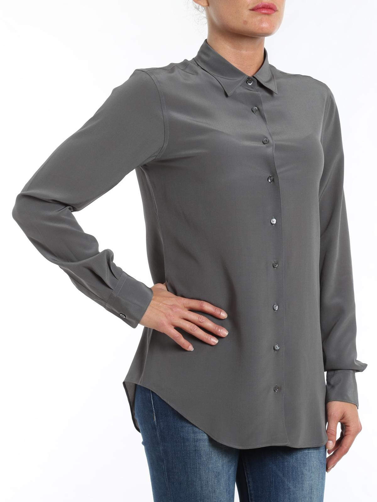96a2ed4d4 Aspesi - Camisa Gris Para Mujer - Camisas - I5 G 5434 2753 5188