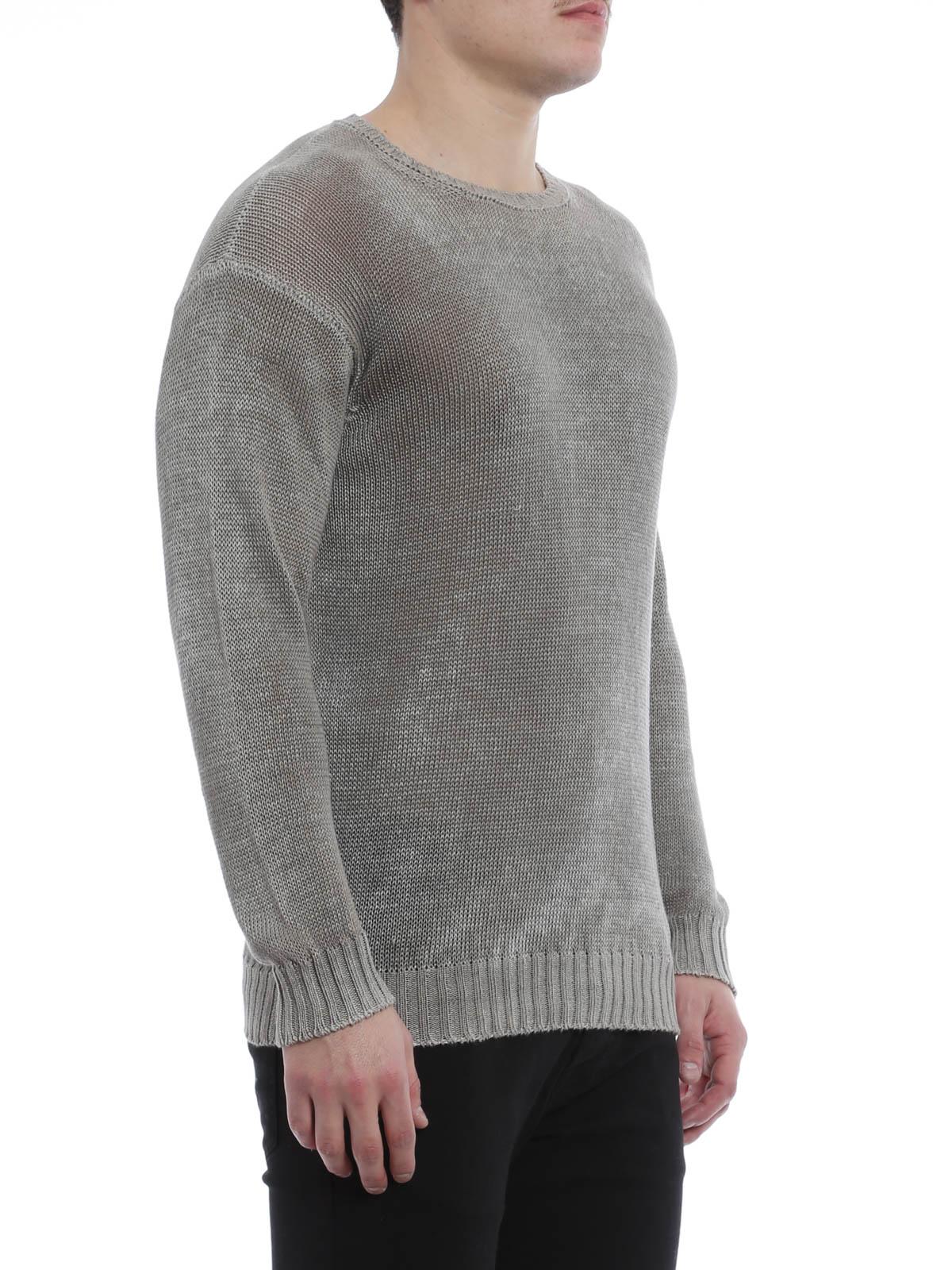 Linen knit sweater by Avant Toi - crew necks iKRIX
