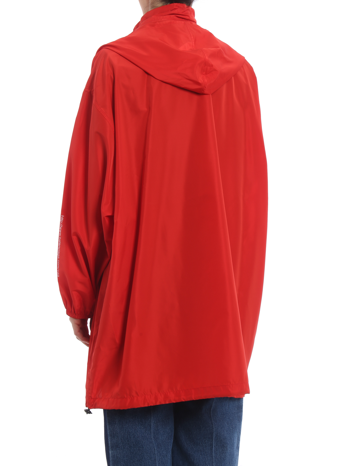 9a11f9432 Balenciaga - Manteau Court Rouge Pour Femme - Manteaux courts ...