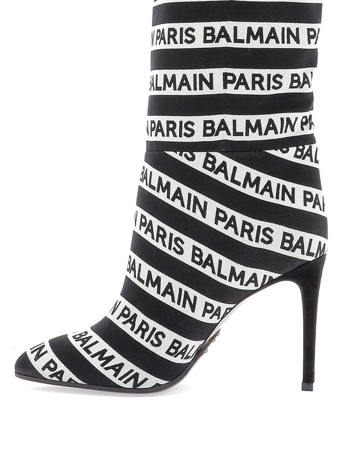 vasta selezione di 25b1e 6fb25 Balmain - Stivali Jane a righe con logo - stivali ...