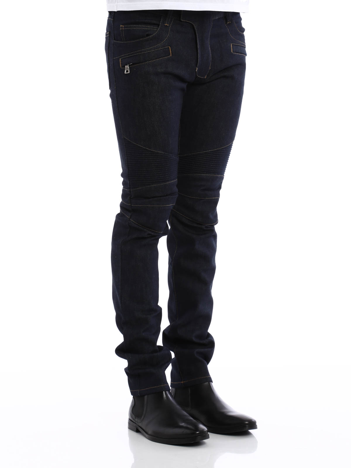 skinny jeans fur herren blau von balmain skinny jeans ikrix. Black Bedroom Furniture Sets. Home Design Ideas