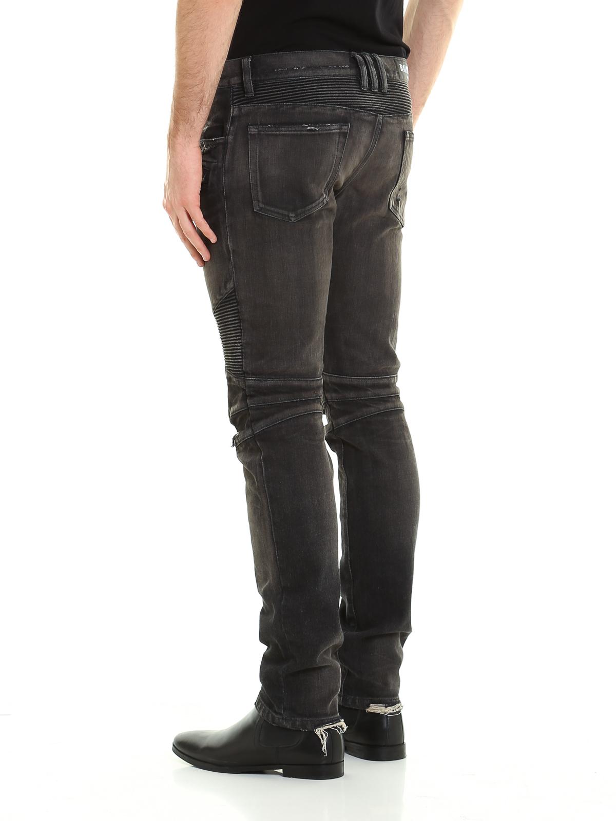 9add28a6 iKRIX Balmain: straight leg jeans - Distressed denim biker jeans