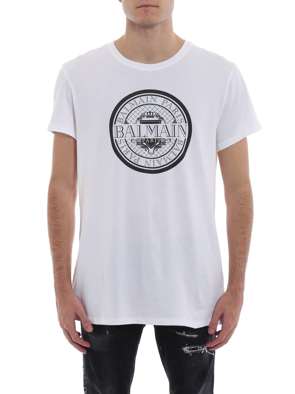 dc9930c9 iKRIX Balmain: t-shirts - Balmain Paris rubberized logo cotton T-shirt