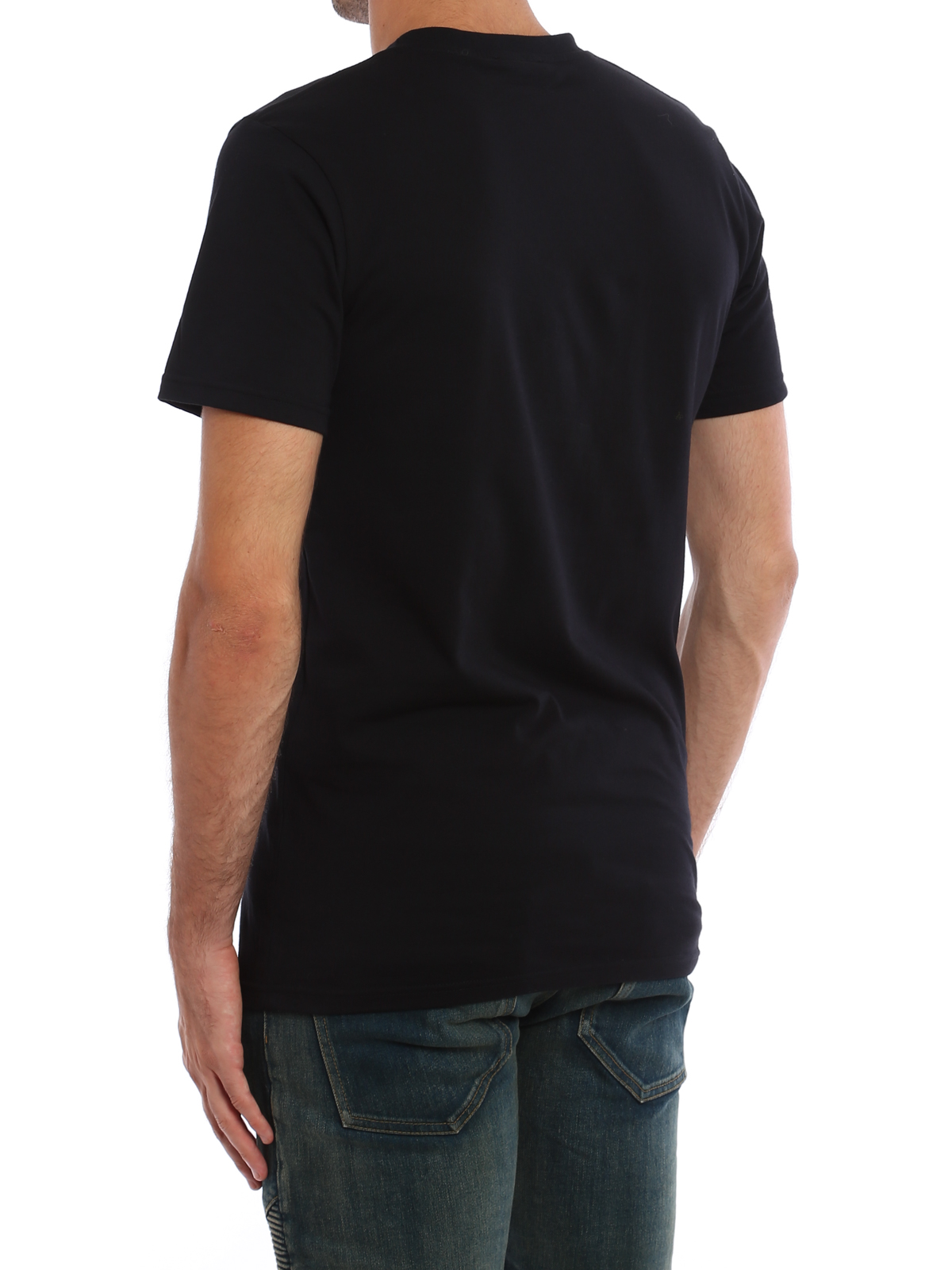 cc17f2dfdc Balmain - Logo and panthers print T-shirt - t-shirts - W7H8601I081176