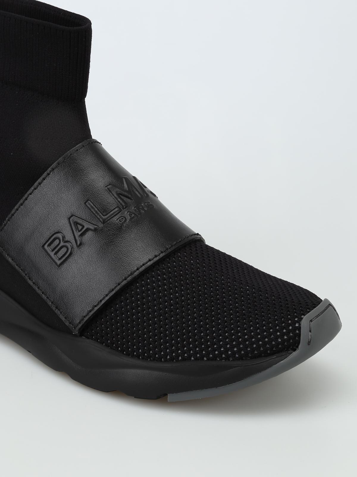 Cameron black mesh sock sneakers