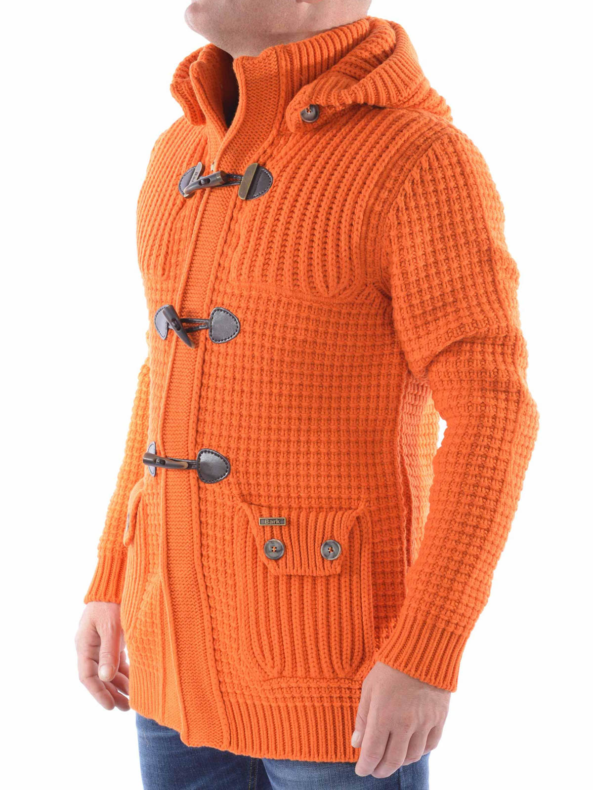 giacca uomo in maglia di lana