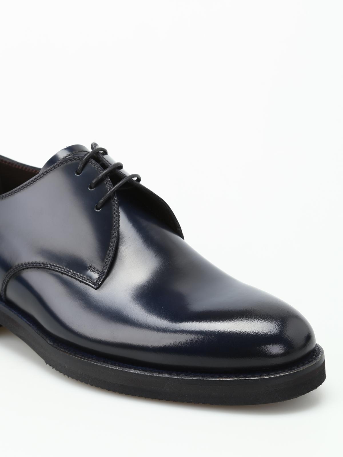 new styles 3a243 4e5f9 Barrett - Derby in pelle spazzolata blu - scarpe stringate ...