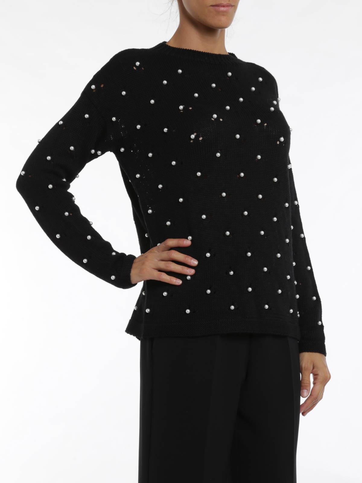 nuovo concetto 825f5 d0220 Blugirl - Maglia con perle - maglia collo rotondo - 9100 ...