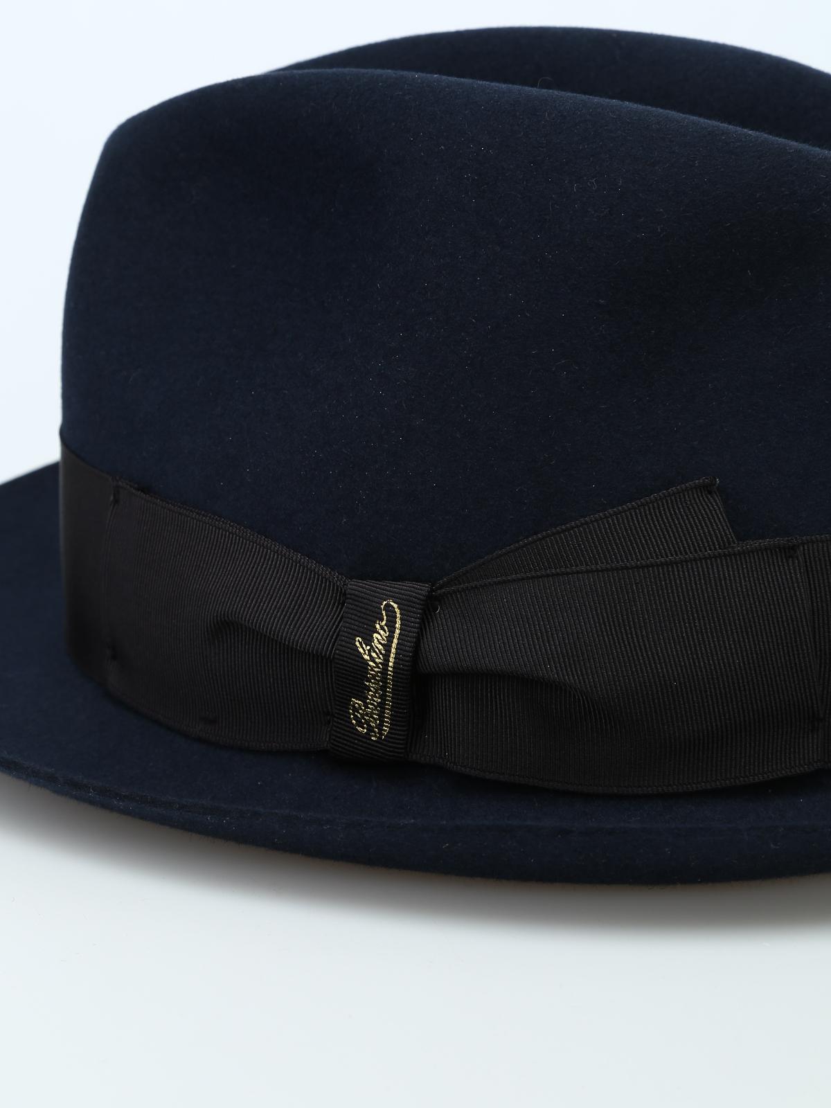 iKRIX BORSALINO  hats   caps - Alessandria grosgrain band blue felt hat 9aa32197457