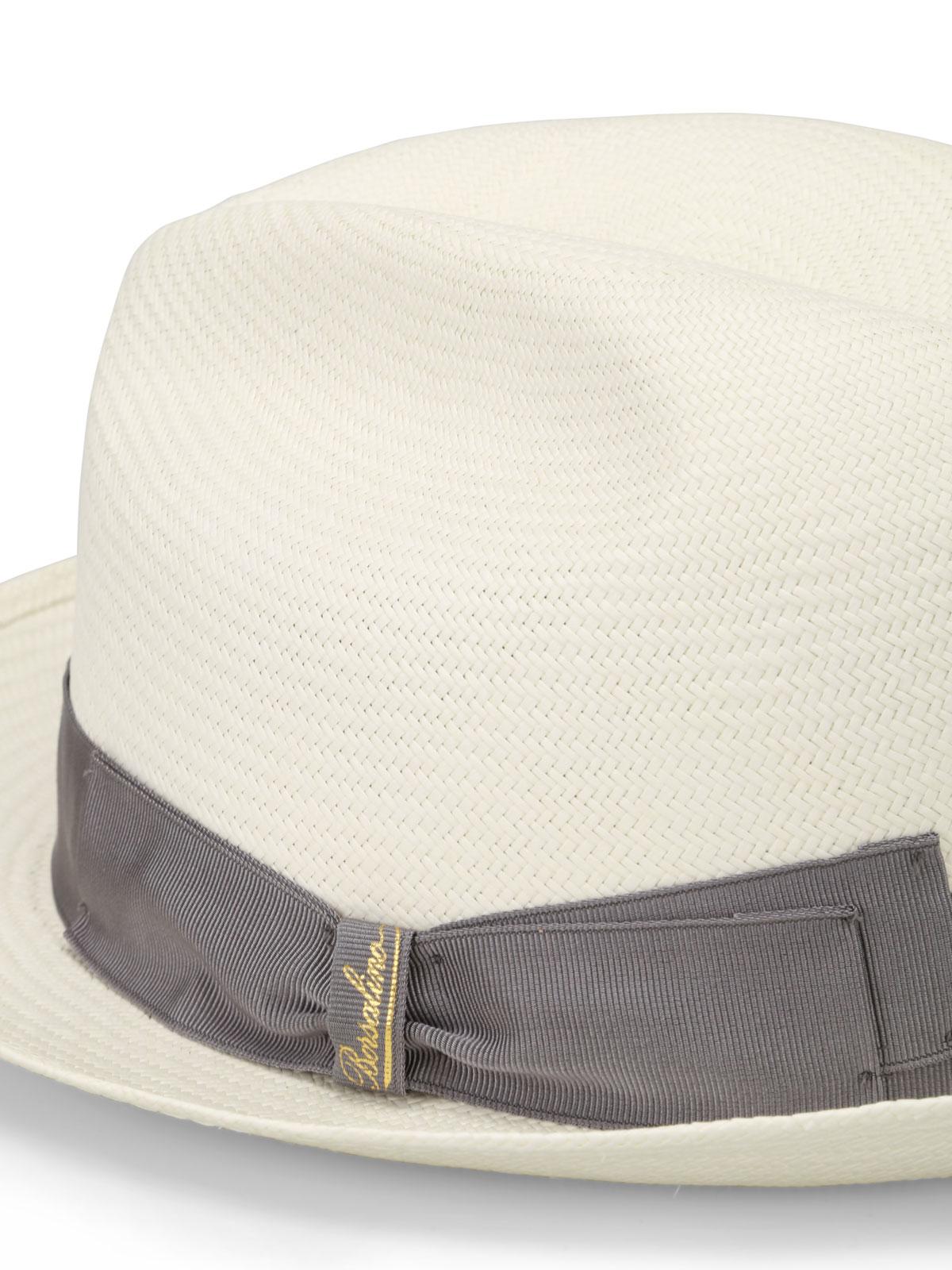 Borsalino - Panama con nastro grigio - cappelli - 1402610017  bd5d331062bd