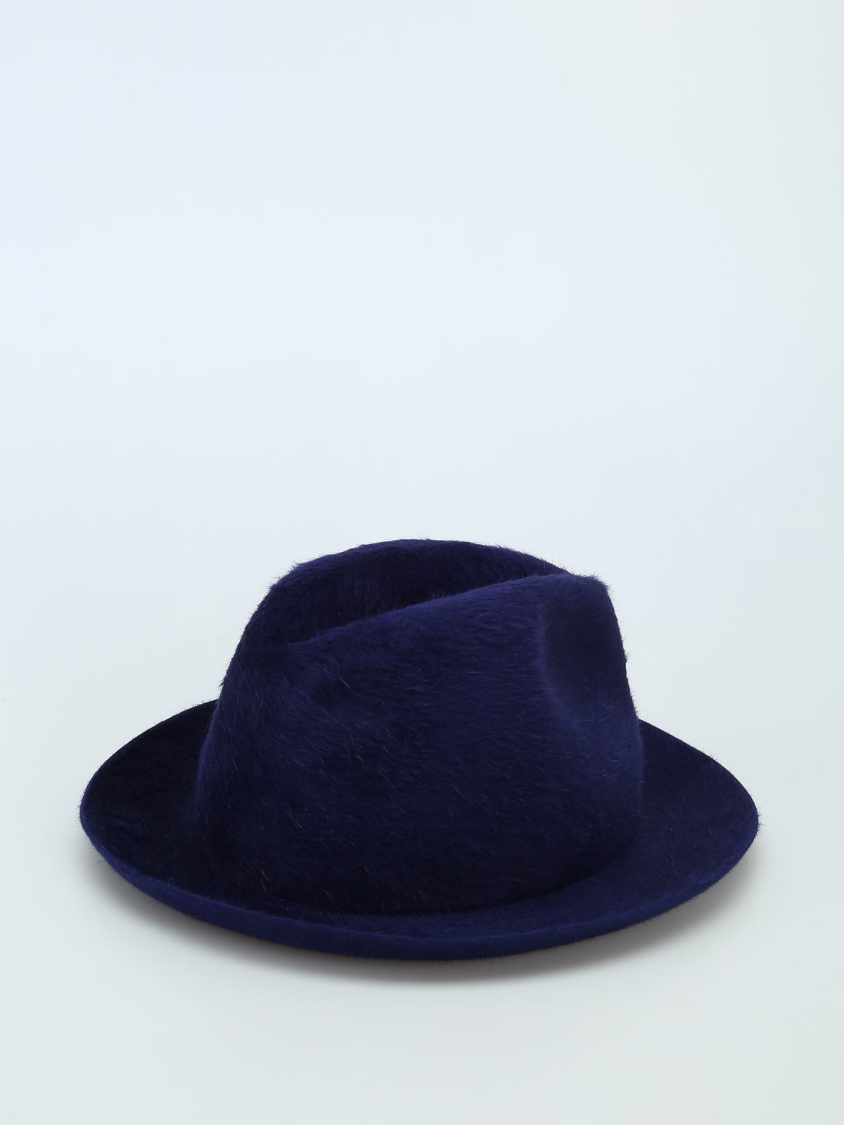 Borsalino - Cappello Melousine in feltro blu - cappelli - 1602512640 f3a3315cf177
