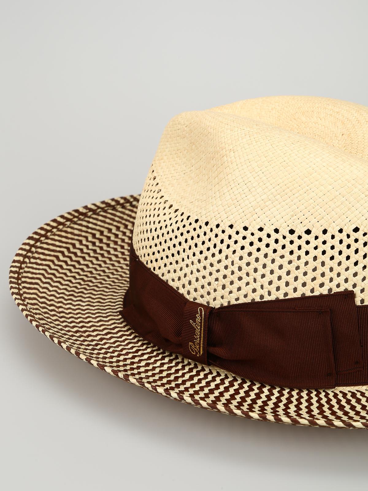 famoso marchio di stilisti colori delicati prima clienti Borsalino - Panama Quito bicolore - cappelli - 141148 0001 ...