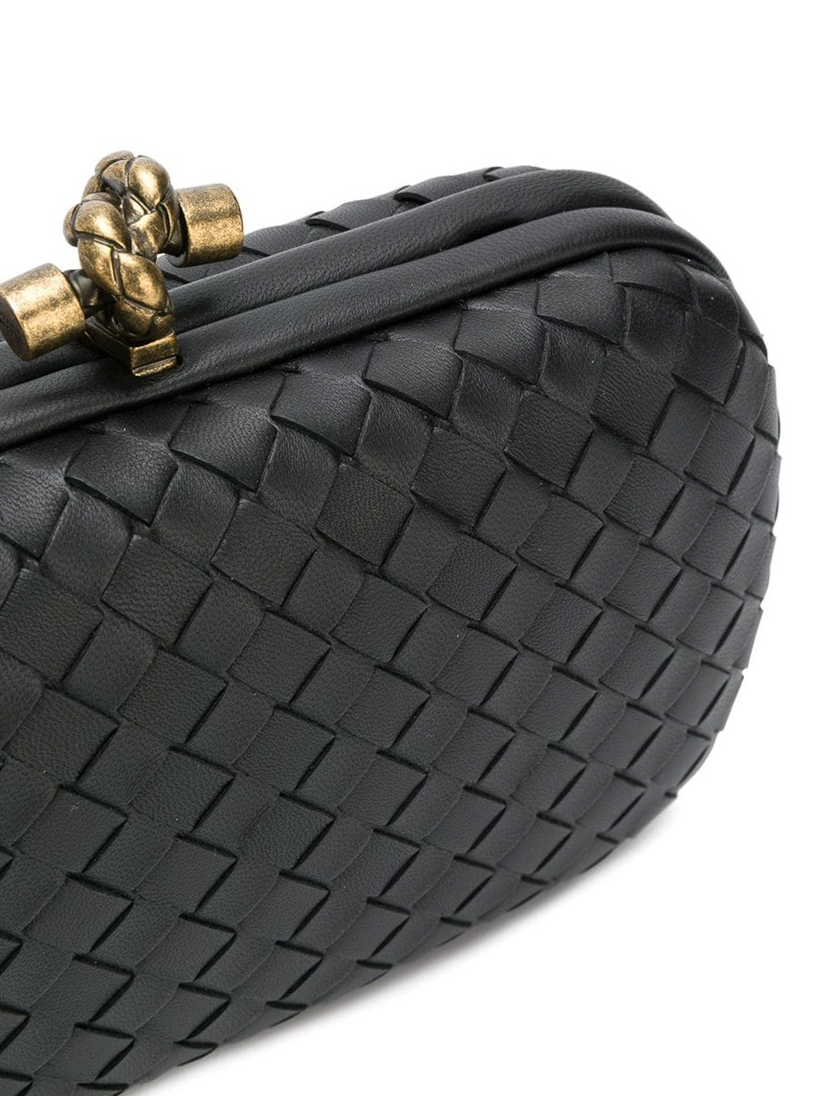 591b407cf359 iKRIX BOTTEGA VENETA  clutches - Chain Knot black woven lambskin clutch