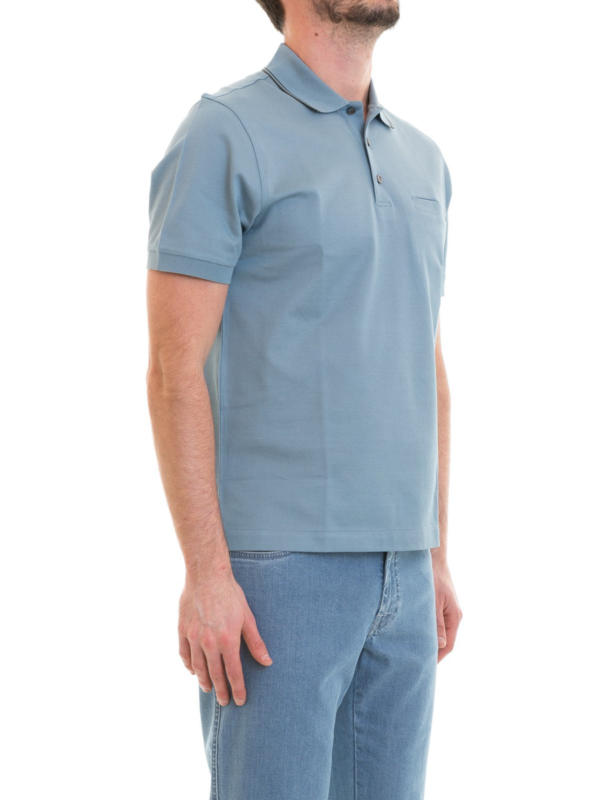 b25a3b69 iKRIX BRIONI: polo shirts - Chest pocket light blue cotton polo