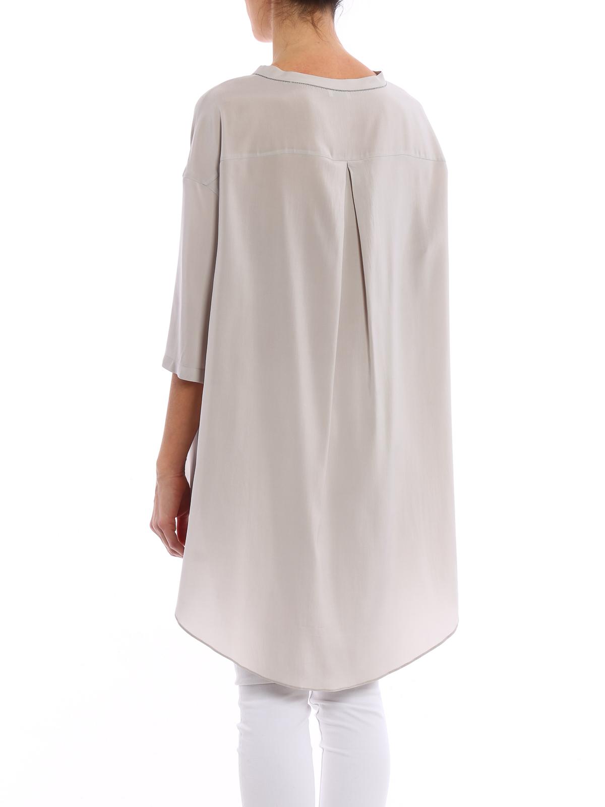 Asymmetric silk top Brunello Cucinelli Buy Cheap Limited Edition Cheap Sale Order Cheap Sale Footlocker Pictures WdwQWQWUJt