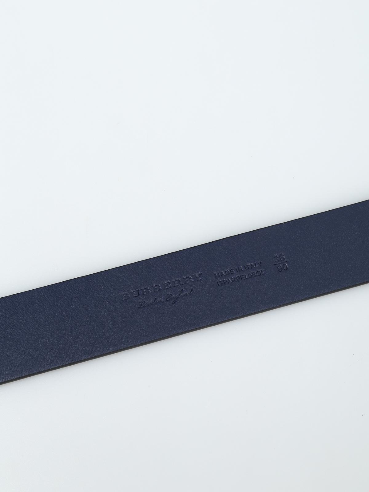 42ddf32a66e9 iKRIX BURBERRY  belts - Vintage check and graffiti print leather belt