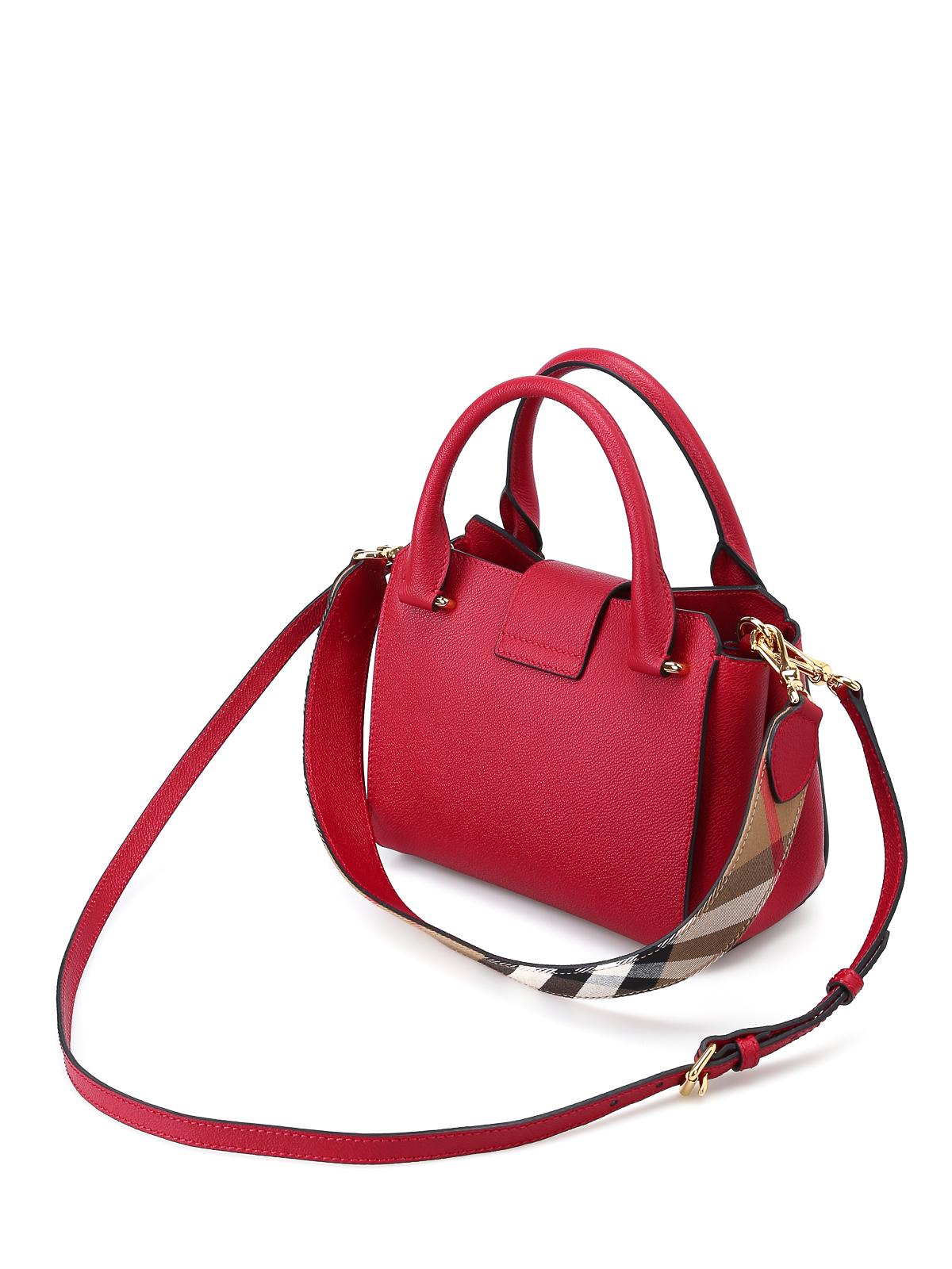 Burberry - Soft grain small buckle tote - bowling bags - 4033751 6e7ed44ae621a