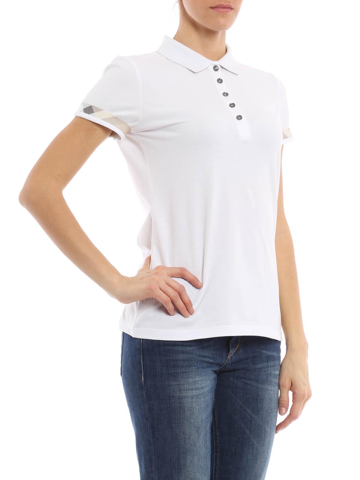 Burberry Brit - Polo Blanc Pour Femme - Polos - 4001660   iKRIX.com b25f6e03a800