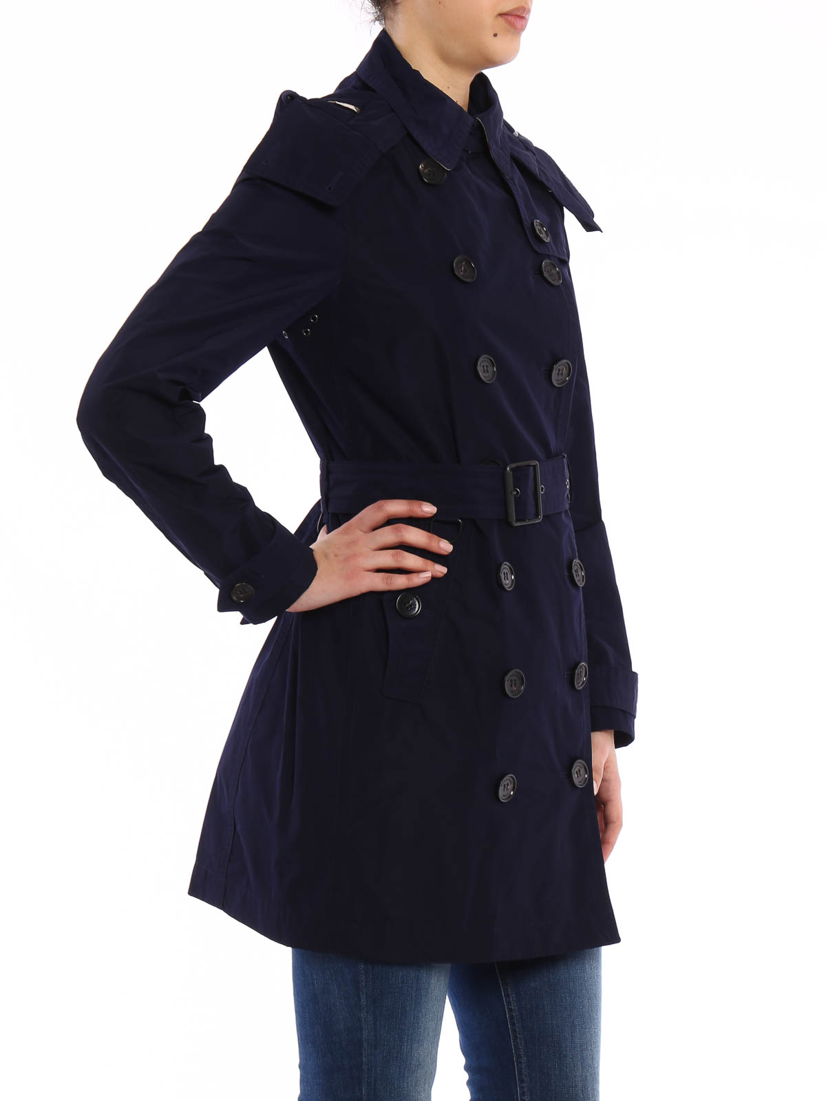 the best attitude 8b879 0482f Burberry Brit - Kapuzen-Trenchcoat Balmoral - Trenchcoats ...