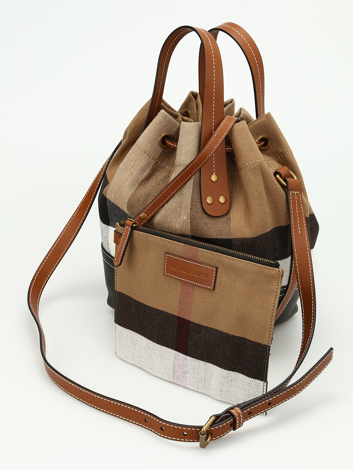 59d003c27 Burberry - Heston canvas Check small bag - Bucket bags - 4049554