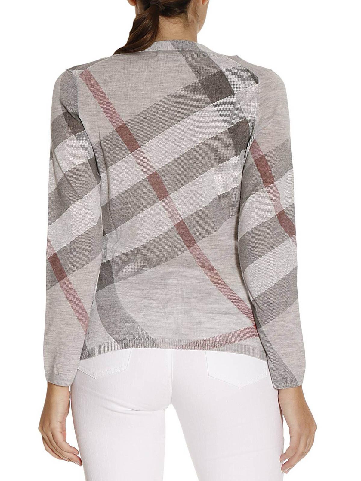 3553e45c8547b Burberry - Cardigan Gris Pour Femme - Cardigans - 4037734   iKRIX.com