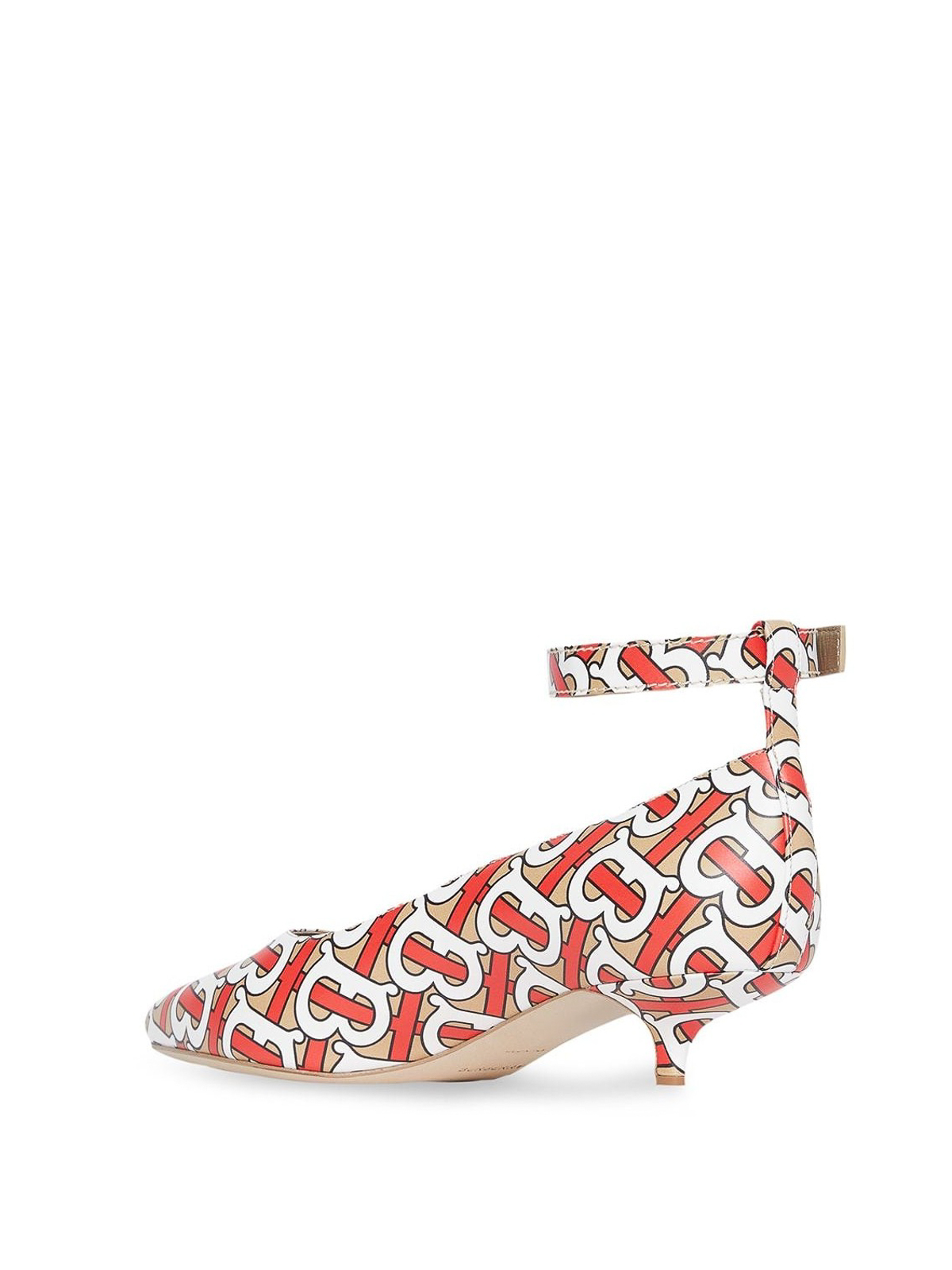 0154ca8c24 Burberry - Monogram print leather peep toe pumps - court shoes - 8012562