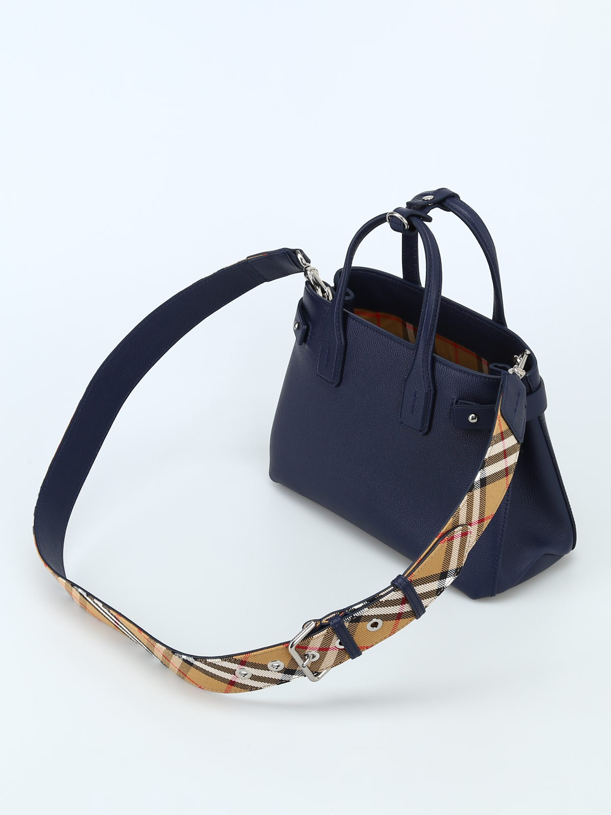 6dc1ac63db18 iKRIX BURBERRY  cross body bags - The Small Banner regency blue leather bag