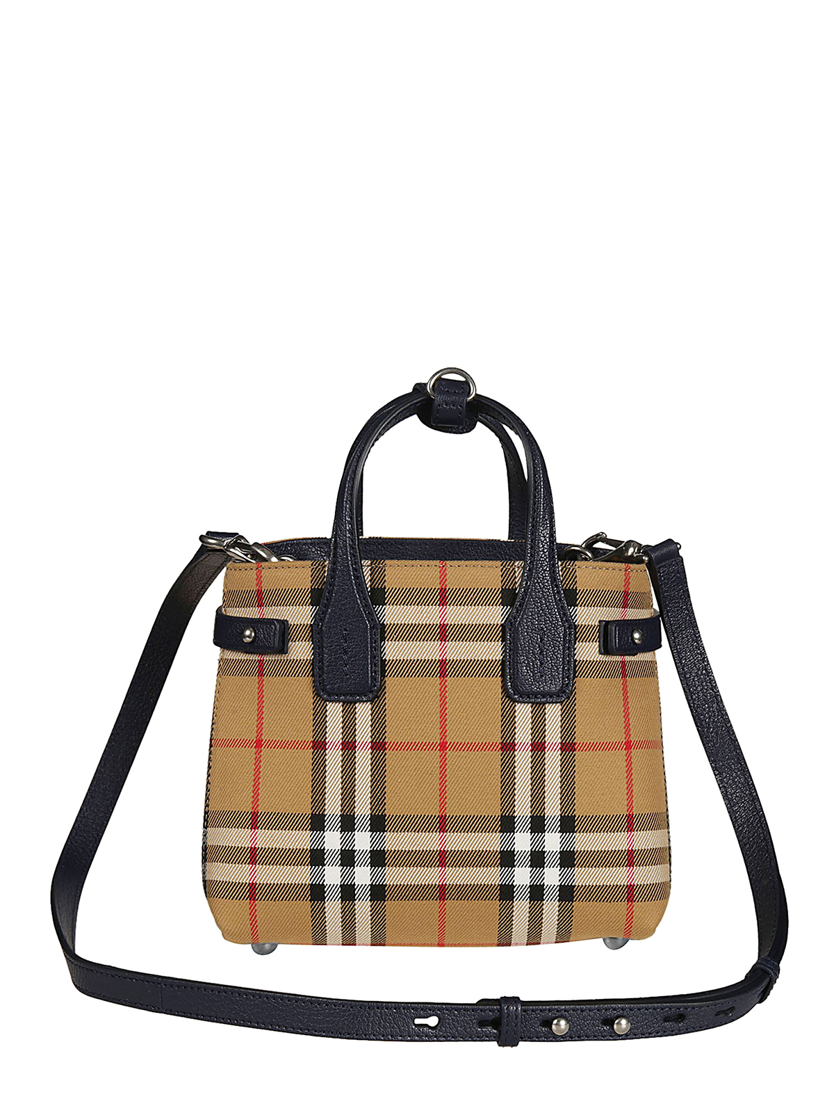Burberry Vintage Check And Leather Baby Banner Bag Cross Body Bags 4078508