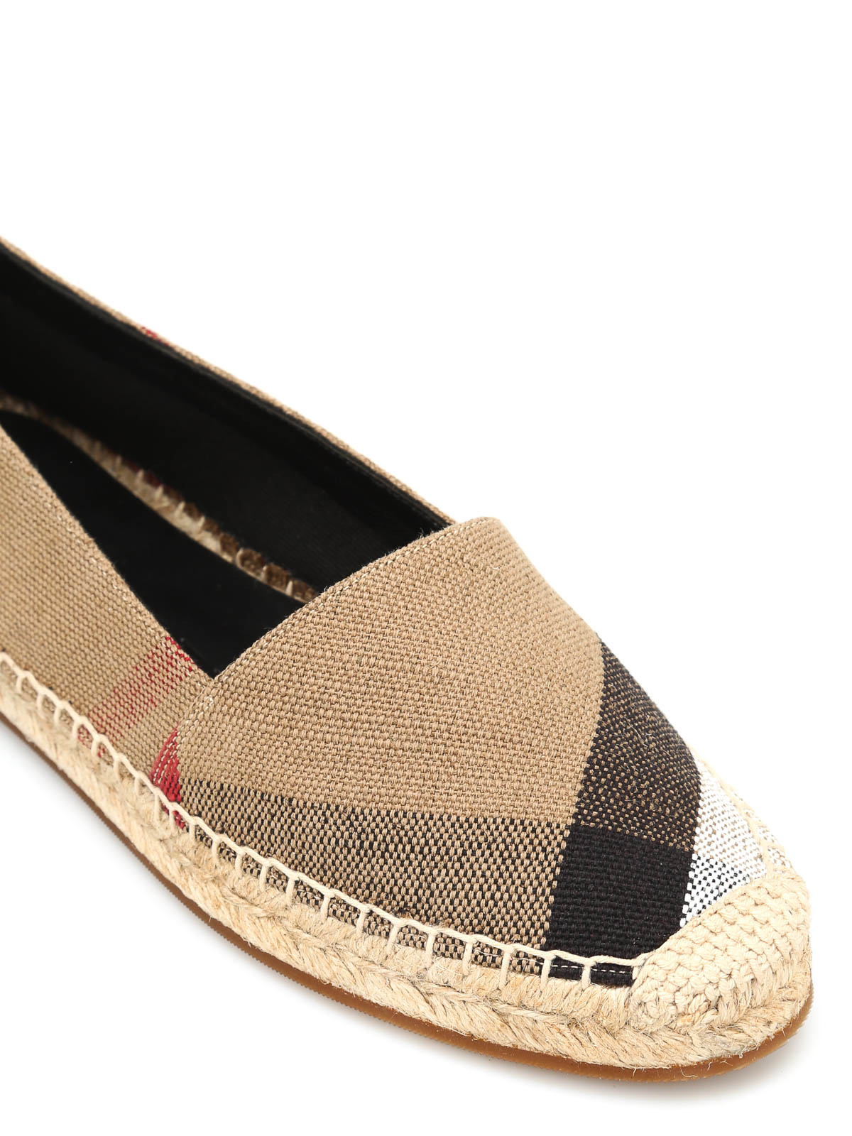 scarpe sportive 1781b 9b73c Burberry - Checked canvas espadrilles - espadrilles ...
