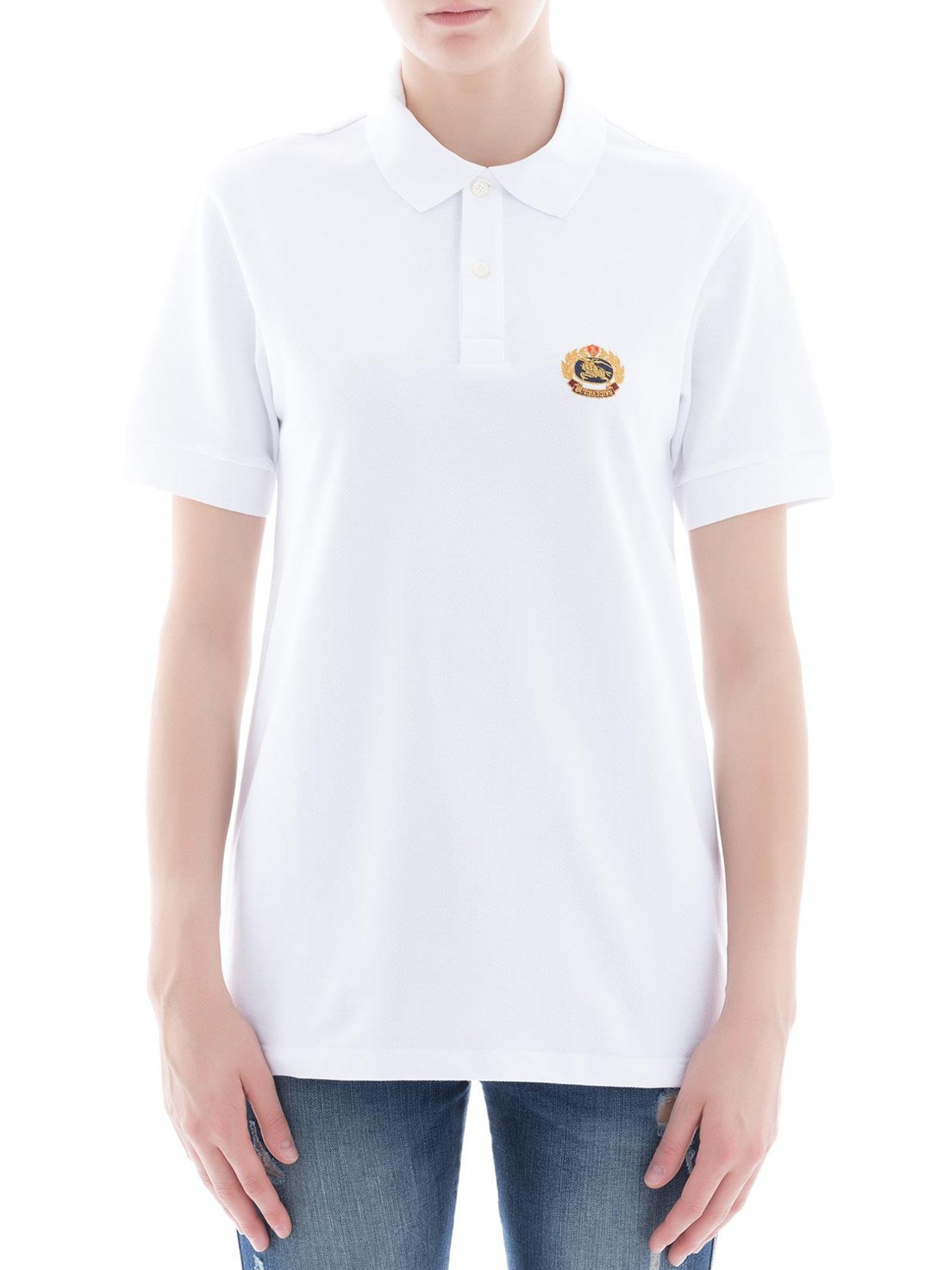 Burberry - Archive crest embroidery polo - polo shirts - 4548042