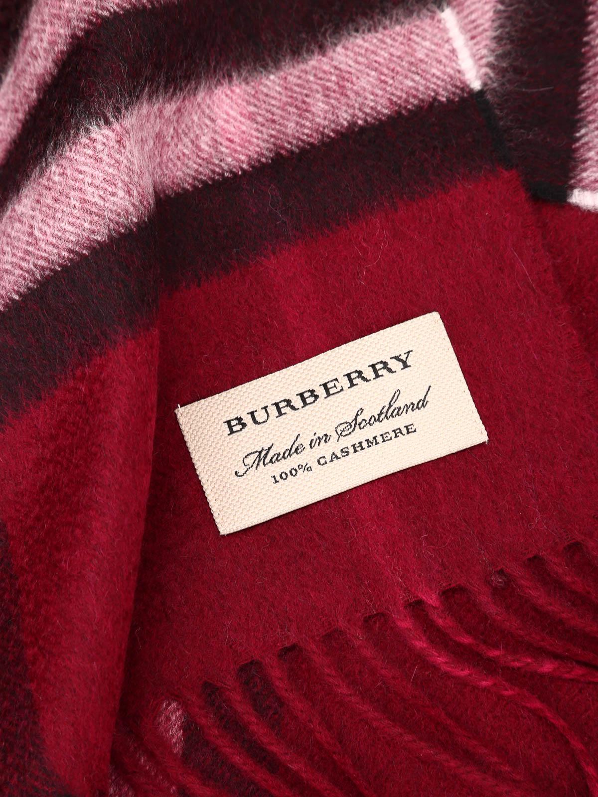 2e6b9643aab2 Burberry - Écharpe Rouge Brun Pour Femme - Écharpes - 3994153