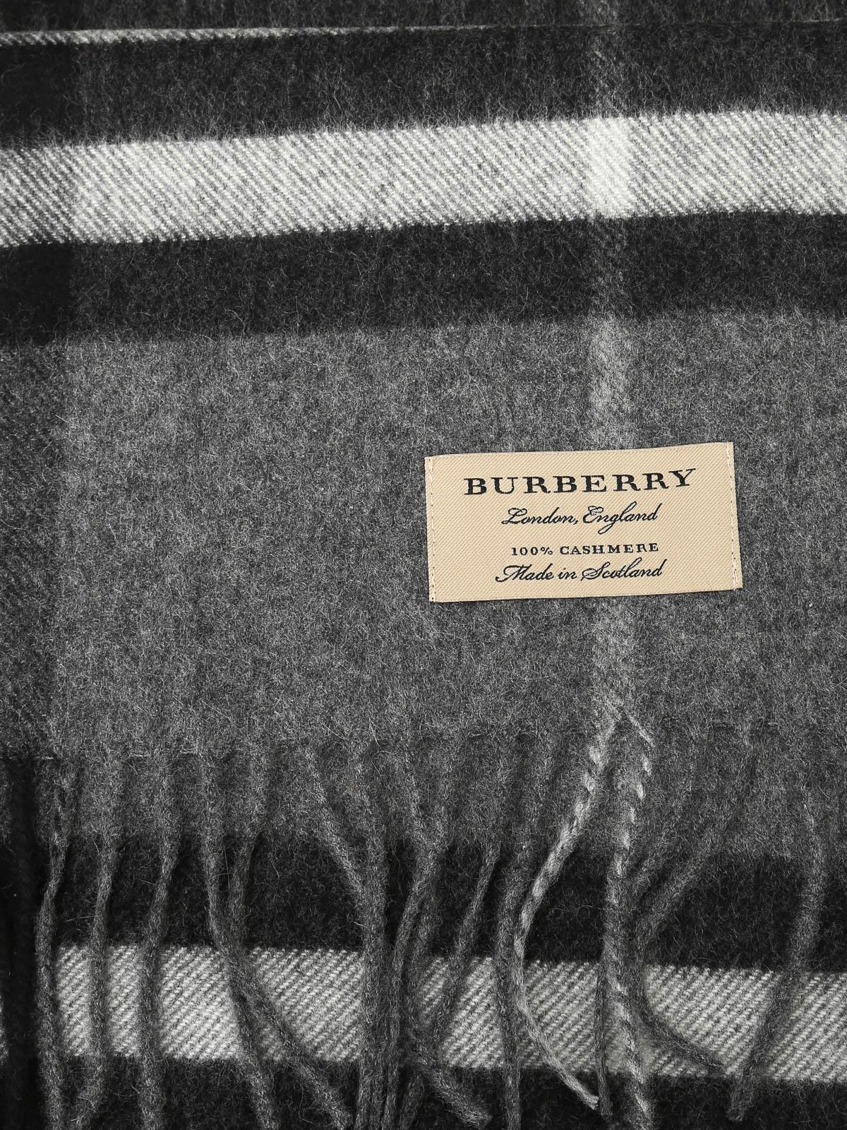Burberry - Giant Check cashmere scarf - scarves - 3994207   iKRIX.com 9ade9e73415