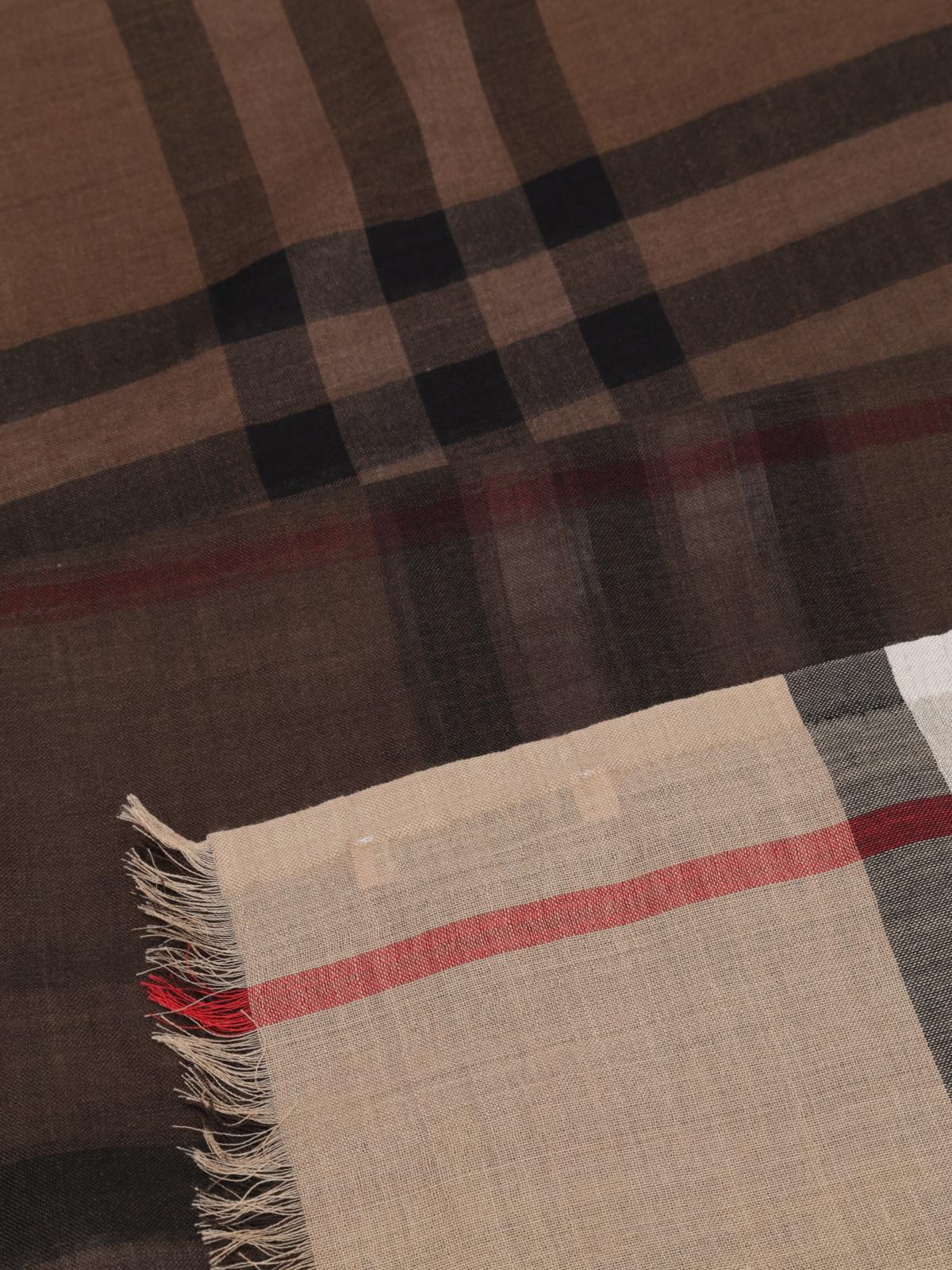 Giant Burberry E Check Sciarpa Ombre Sciarpe 3943706 Foulard qUEUH