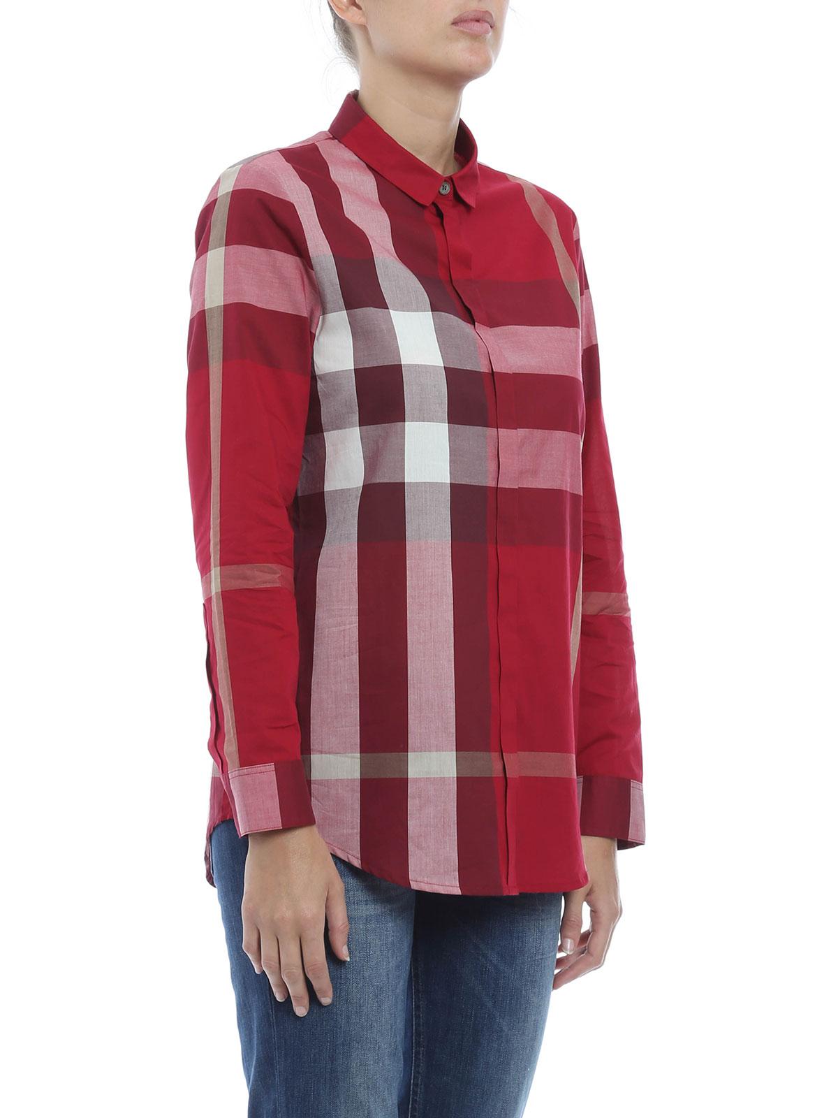 Burberry - Chemise Rouge Pour Femme - Chemises - 3990039   iKRIX.com 3c10983a7f7
