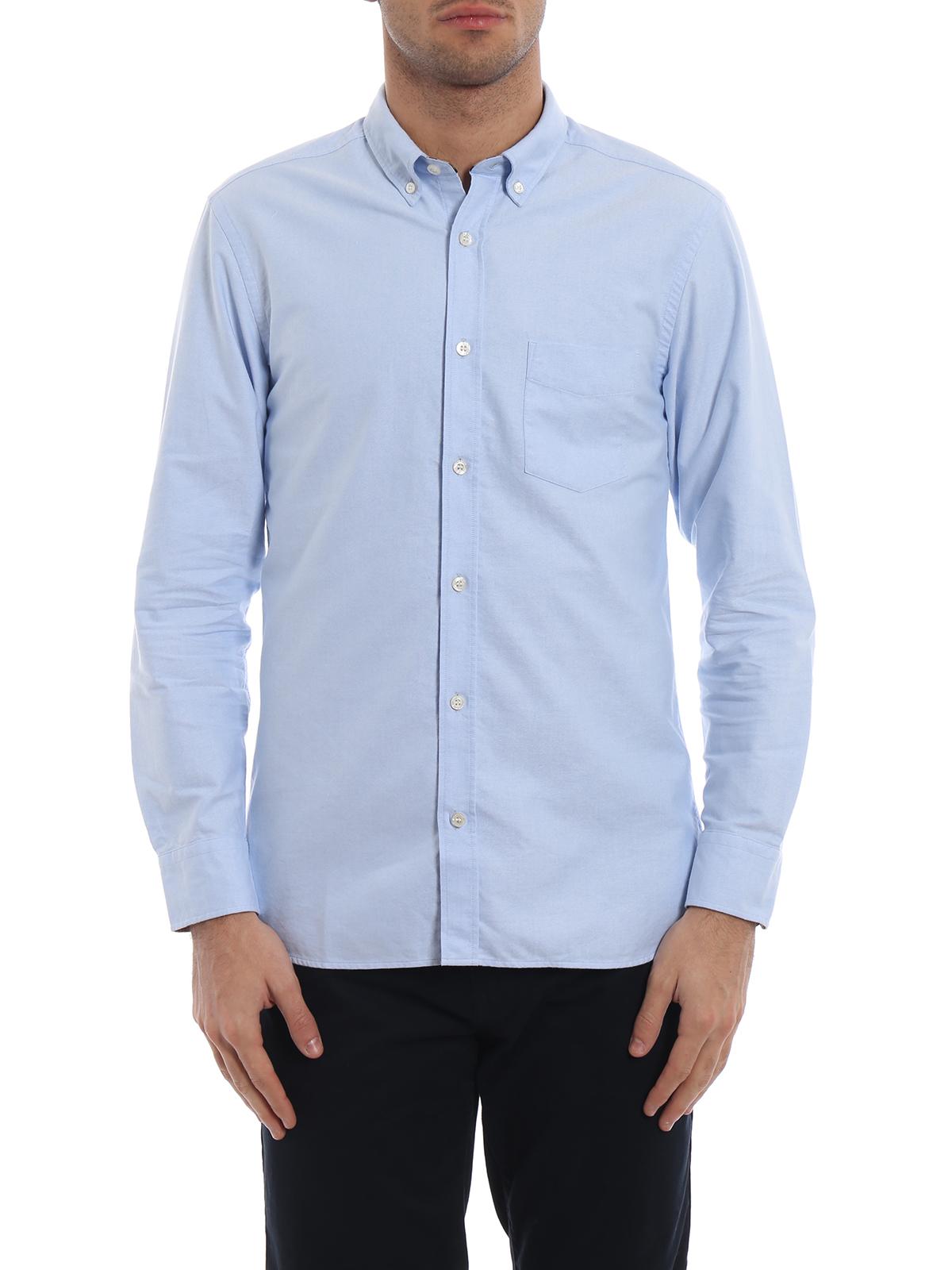 super popolare c38e1 b1883 Burberry - Camicia Harry azzurra con polsini Check - camicie ...