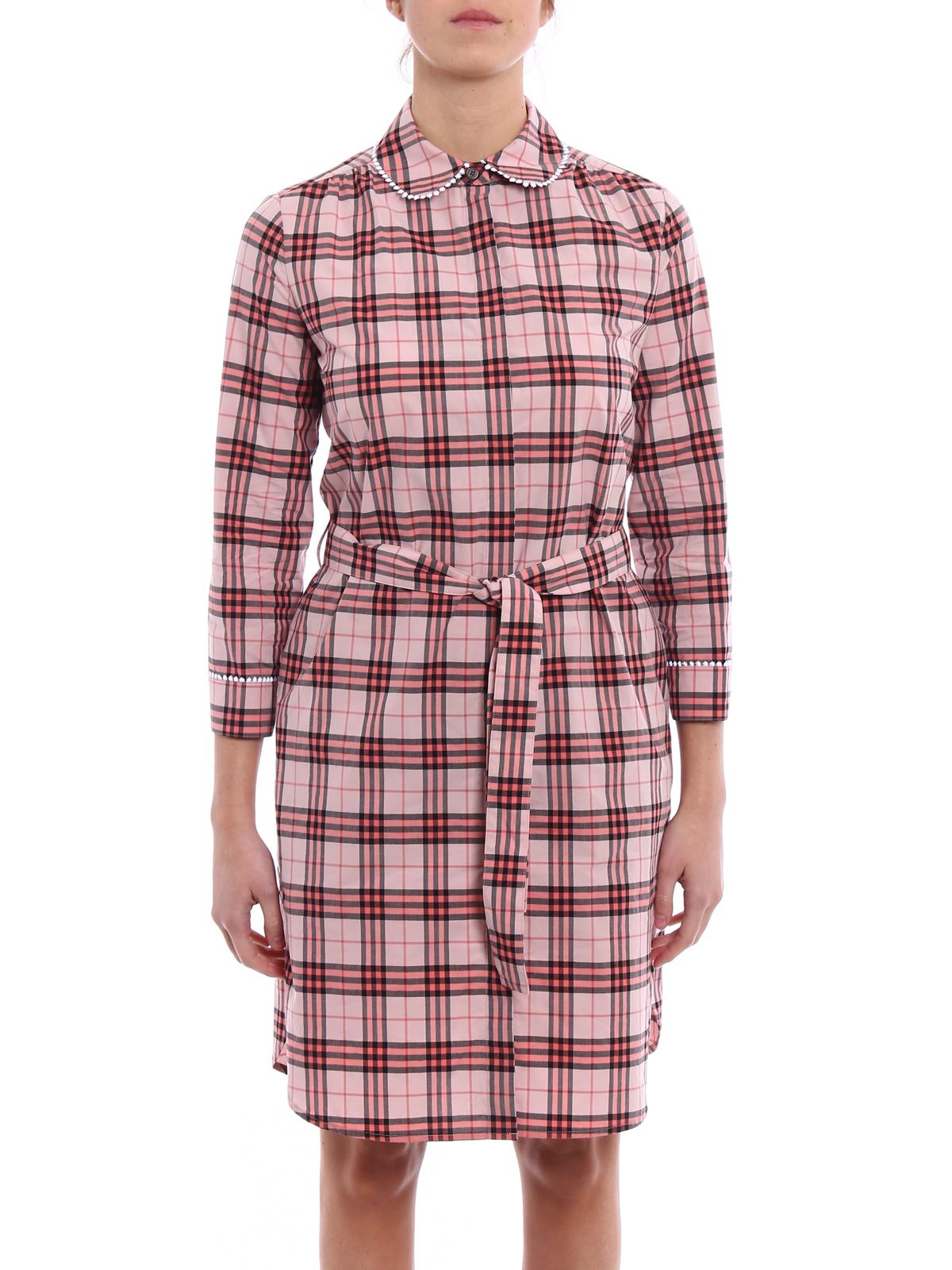 97acc701b7ba Burberry - Agna tartan print shirt dress - short dresses - 4067764