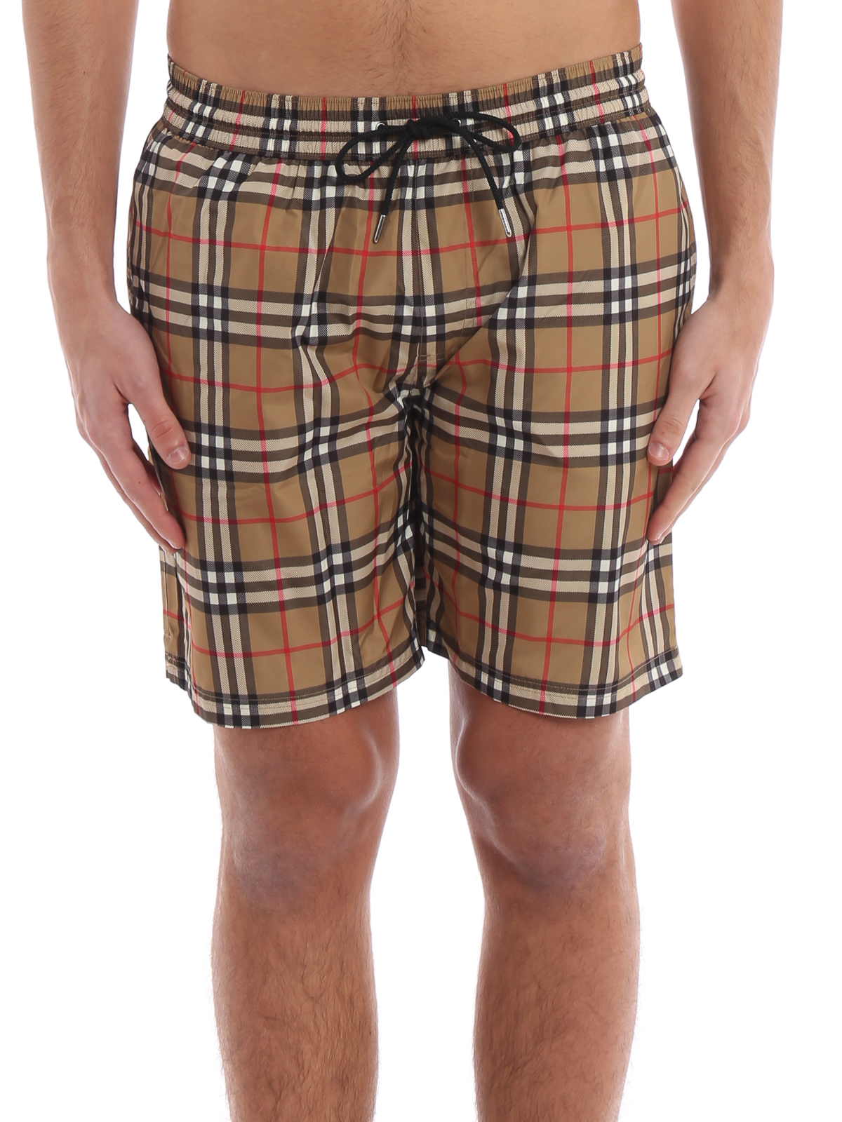 56940985bf186 iKRIX BURBERRY: Swim shorts & swimming trunks - Guildes antique yellow Check  swim shorts