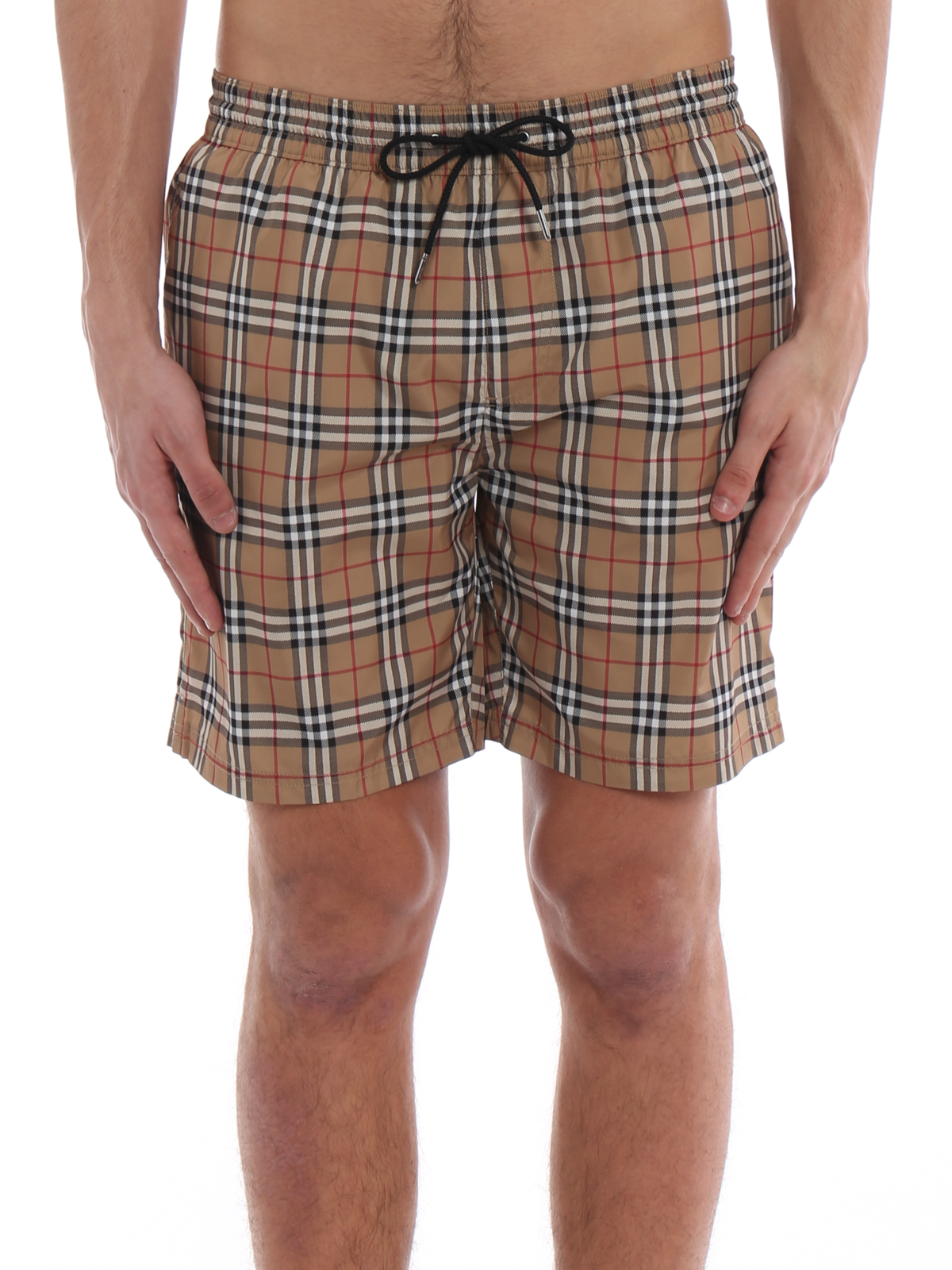 c55a35b6f4 iKRIX BURBERRY: Swim shorts & swimming trunks - Guildes beige Check swim  shorts