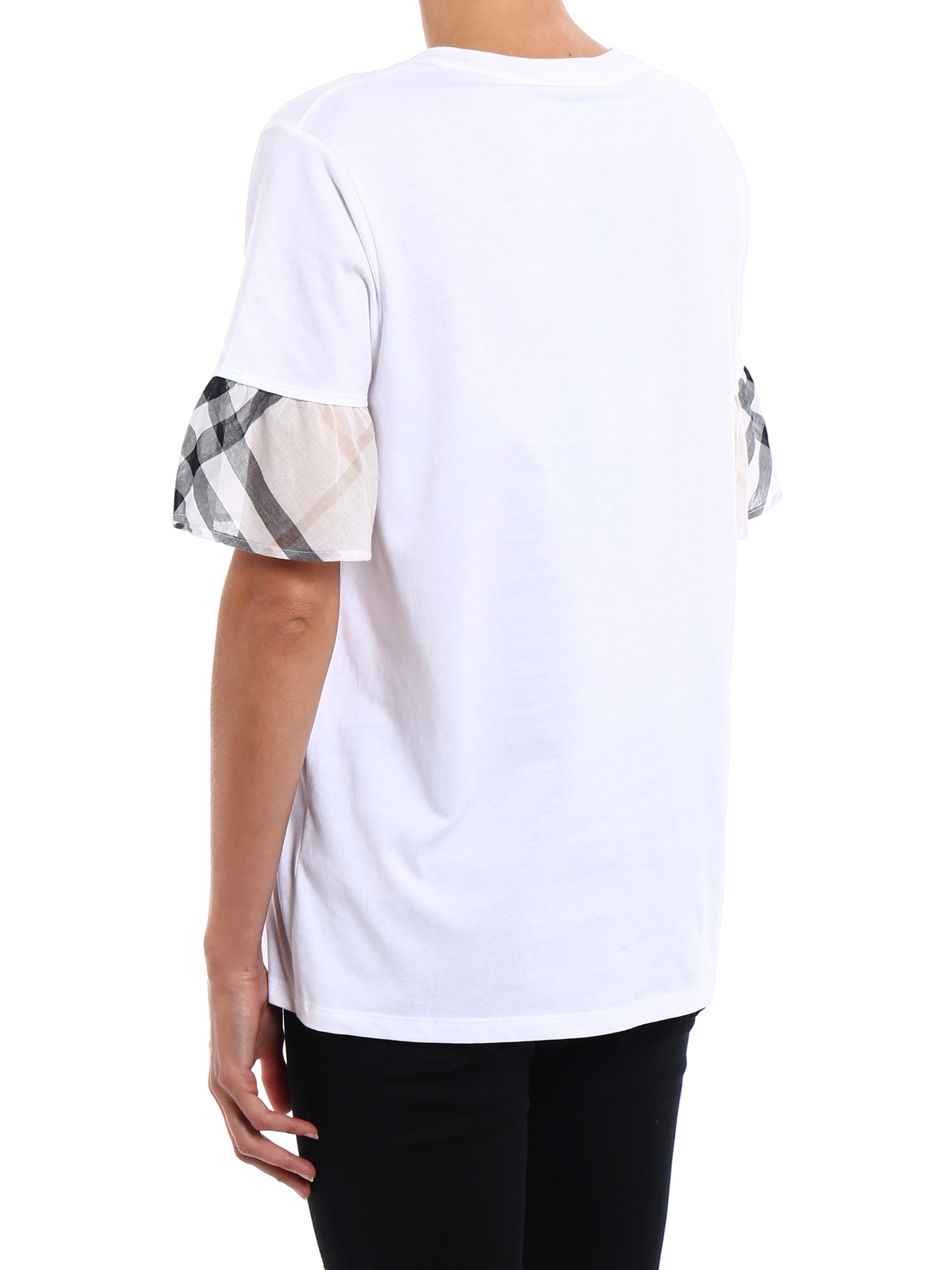 70ea974cc992 Burberry - Check detailed cotton Tee - t-shirts - 4055756
