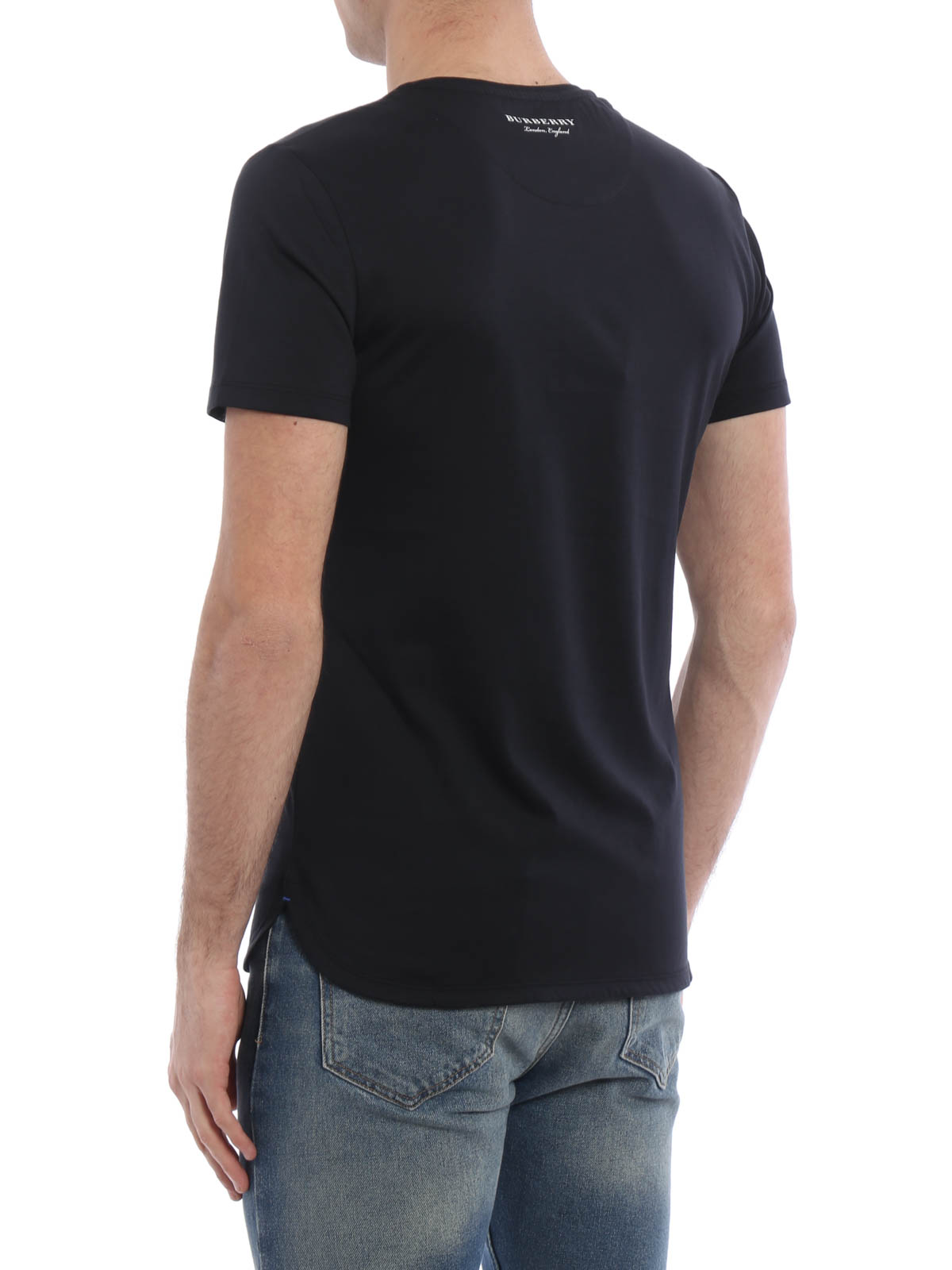 stantford cotton jersey t shirt by burberry t shirts