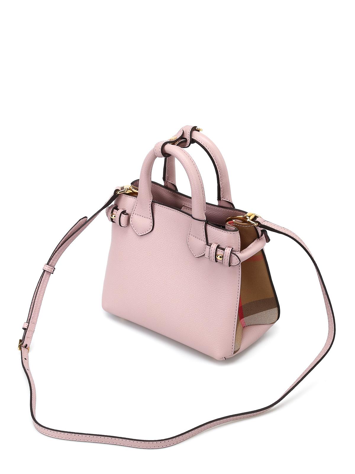 6921b27978b9 Burberry - The Baby Banner pink mini handbag - totes bags - 4023713