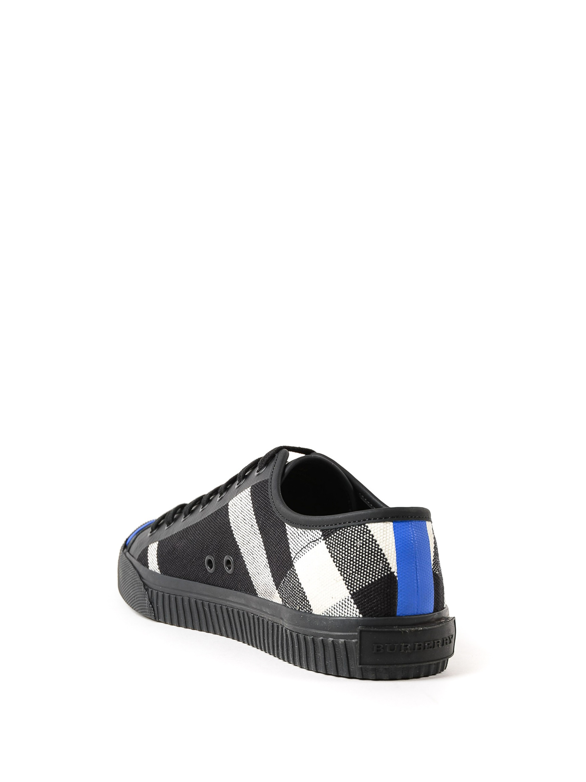 Burberry - Black check canvas sneakers