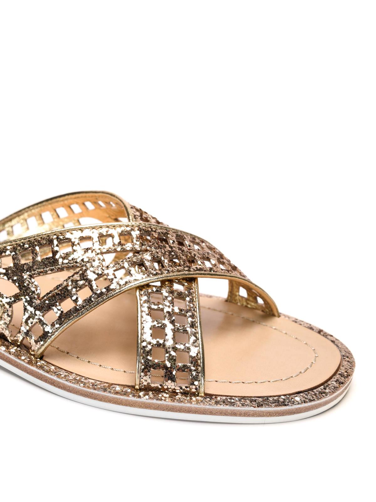 63fe667aaa0 Car Shoe - Sandalias Doradas Para Mujer - Sandalias - KDX19N 36B F0522