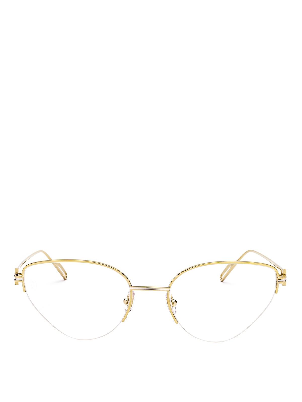 a1108e5cfd68 iKRIX CARTIER  Glasses - Gold-tone half-frame aviator eyeglasses